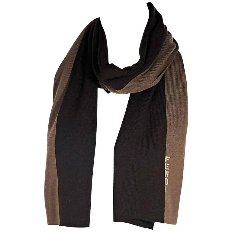 Brown Fendi Wool Scarf