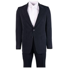 Tom Ford Mens Dark Grey Silk Two Button Shelton 2 Piece Suit