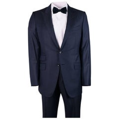 Tom Ford Men's Navy Wool Y Fit O'Connor Textured 2 Piece Suit