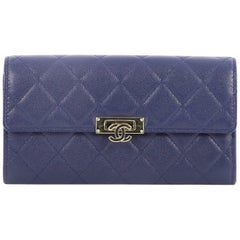 Chanel Quilted Caviar Golden Class Wallet