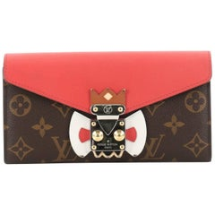Louis Vuitton Monogram Canvas and Leather Tribal Mask Sarah Wallet