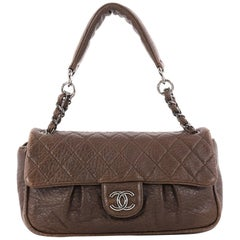 Chanel Lady Braid Chain Quilted Distressed Lambskin Medium Flap Bag