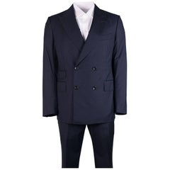 Tom Ford Men's Navy Wool Double Breast Shelton 2 Piece Suit