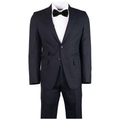 Tom Ford Men's Black Pick Stitched O'Connor Two Piece Suit