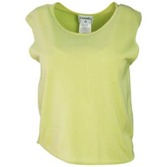Chanel Chartreuse Sleeveless Top Sz FR42