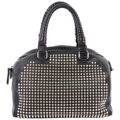 Christian Louboutin Panettone Convertible Satchel Spiked Leather Small