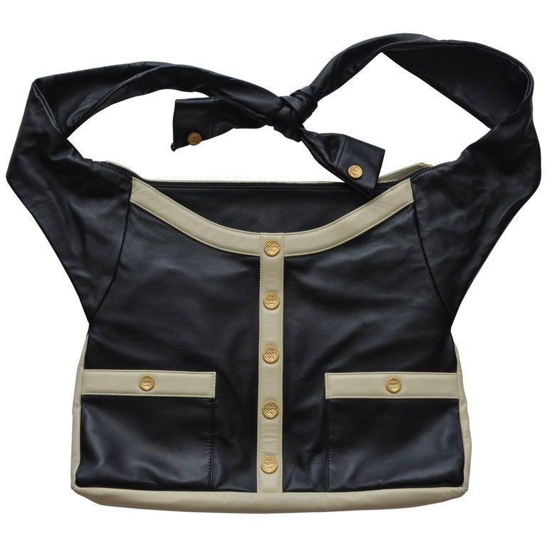 "Chanel ""Girl"" Black Jacket Black Lambskin Bag, 2015"