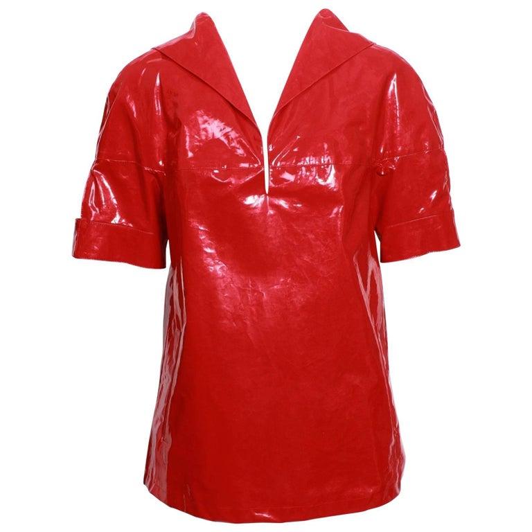 Prada Waterproof Red Top