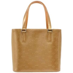 Louis Vuitton Stockton Gold Monogram Matt Leather Shoulder Bag