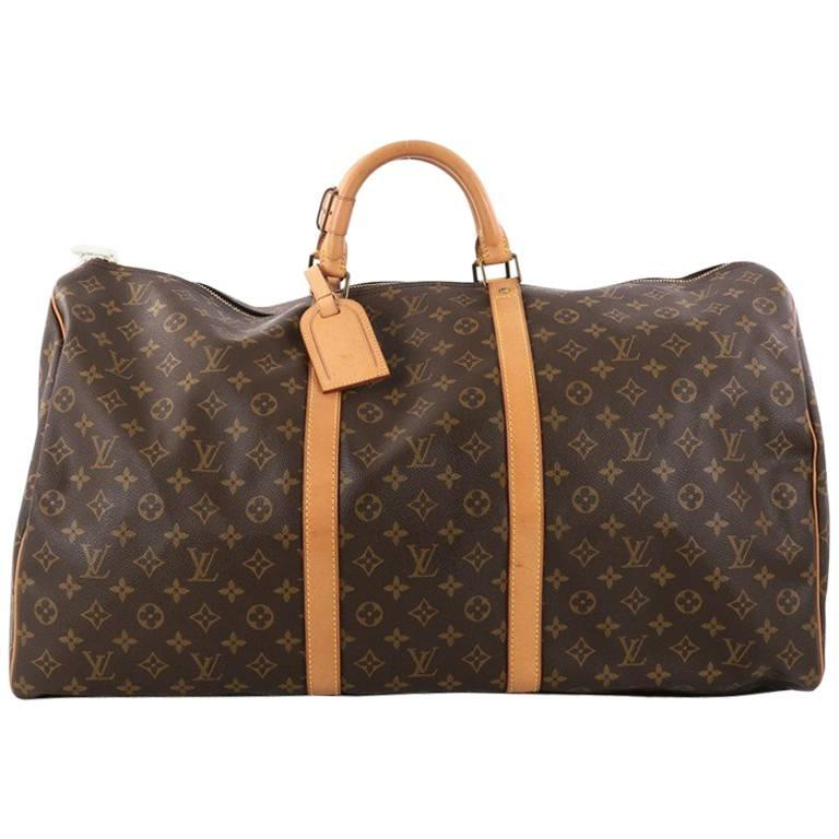 Louis Vuitton Keepall Bag Monogram Canvas 60 For