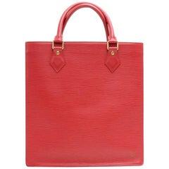 Louis Vuitton Sac Plat PM Red Epi Leather Handbag