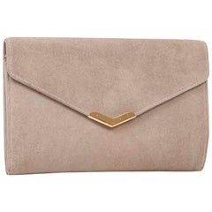 HERMES Vintage Clutch in Naturel Suede