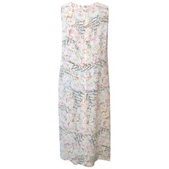 Chanel Pastels Floral Text Dress