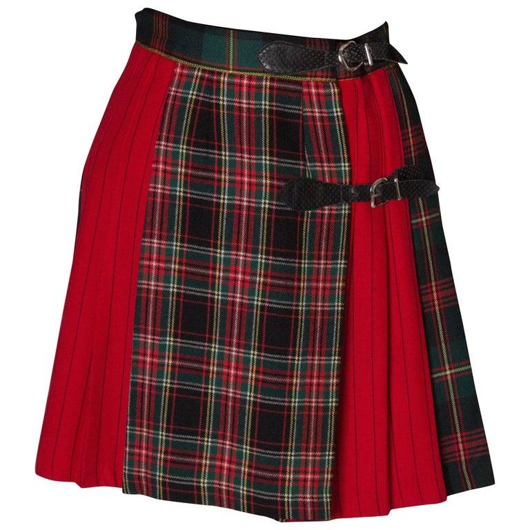 Mini Kilt Vintage Skirt made for Bergdorf Goodman