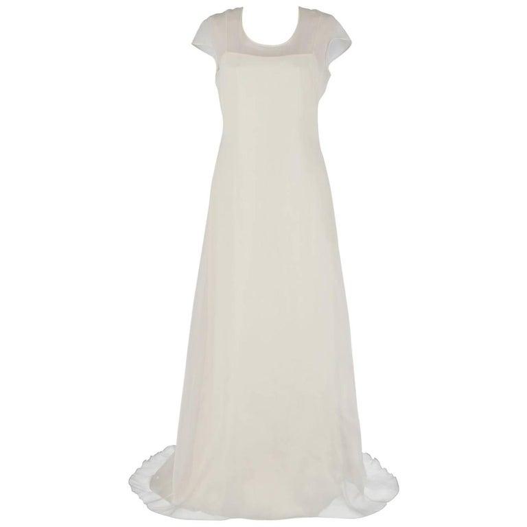 Genny White Ivory  Vintage Wedding Dress, 1990s