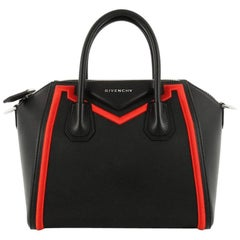 Givenchy Antigona Bag Leather with Embroidered Fabric Trim Small