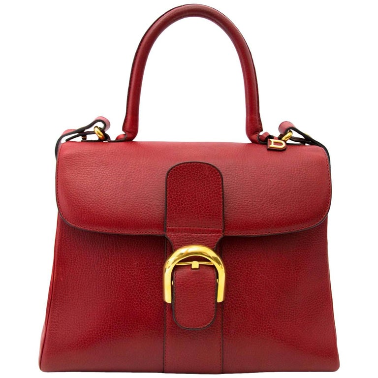 Delvaux Red Brillant MM Bag and Strap