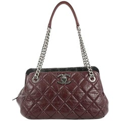Chanel Portobello Bowler Bag Quilted Aged Calfskin and Tweed Medium