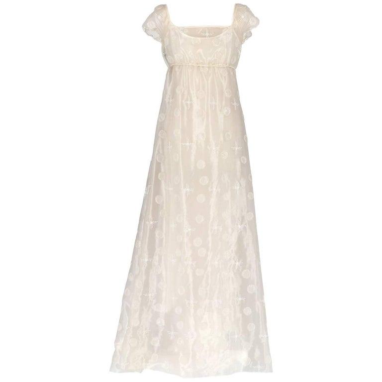 Alberta Ferretti White Silk Vintage Wedding Dress, 2000s