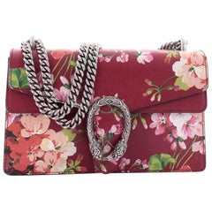 Gucci Dionysus Handbag Blooms Print Leather Small