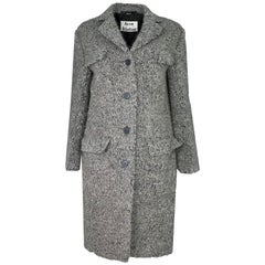 Acne Grey Tessa Wool Boucle Coat Sz FR34