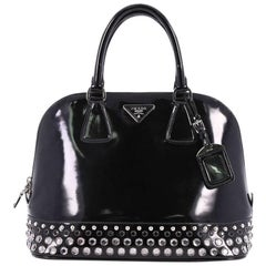 Prada Promenade Handbag Embellished Spazzolato Leather Medium