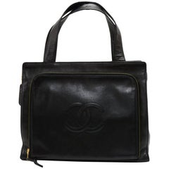 Chanel Black Zipper Pocket Shoulder bag