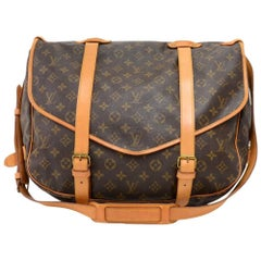 Louis Vuitton Vintage Saumur 43 XL Monogram Canvas Shoulder Bag