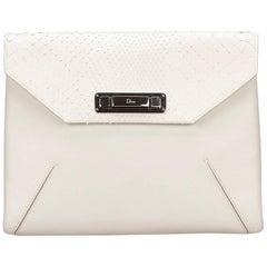DiorWhite Leather Clutch Bag