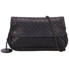 Bottega Veneta Black Intrecciato Crossbody Bag