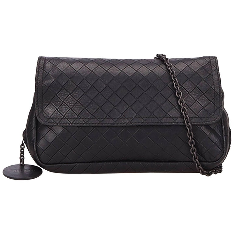Bottega Veneta Black Intrecciato Crossbody Bag