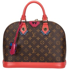 Louis Vuitton Brown Monogram Totem Alma PM Flamingo