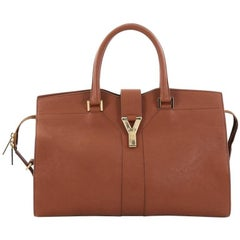 Saint Laurent Chyc Cabas Tote Leather Medium