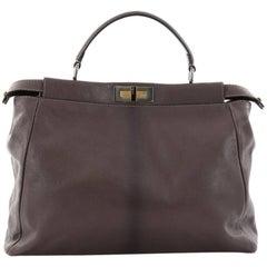 Fendi Peekaboo Handbag Leather Large