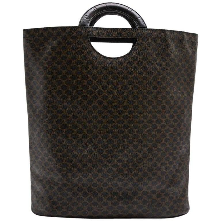 CELINE Tote Bag in Brown Monogram Leather