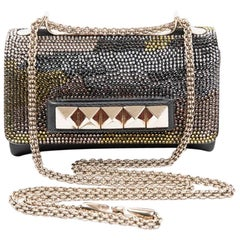 VALENTINO GARAVANI 'Vavavoom' Model Bag in Rockstud Crystal Mesh
