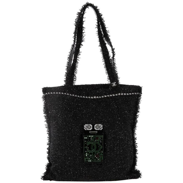 5671055d4cb3 Chanel Robot Shopping Tote Embellished Tweed Large at 1stdibs