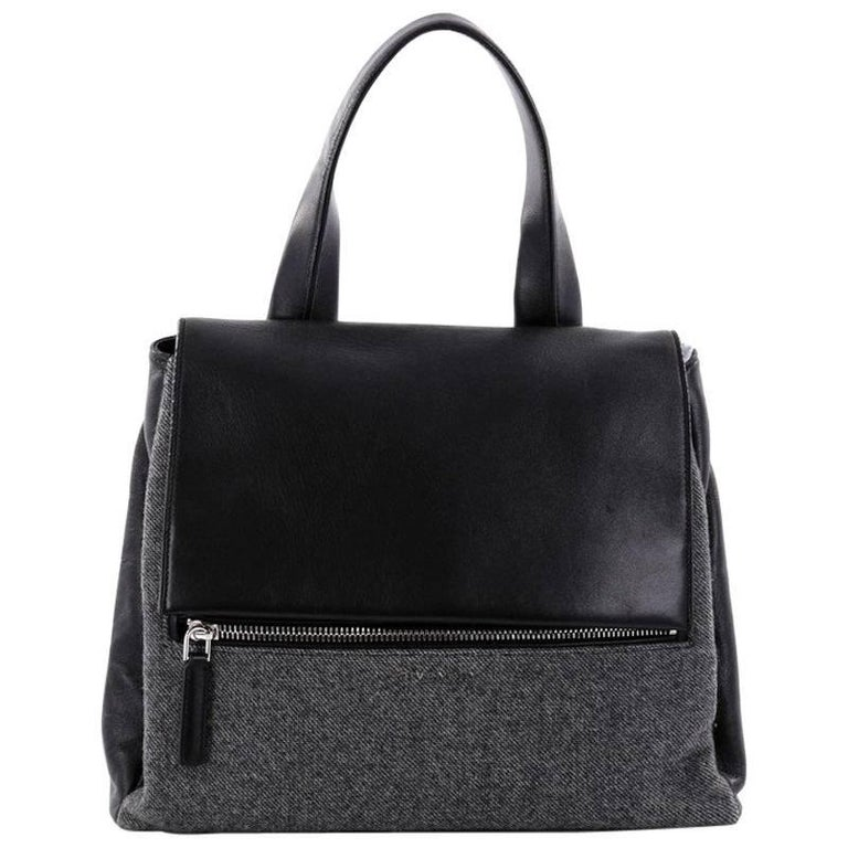Givenchy Pandora Pure Satchel Wool with Leather Medium