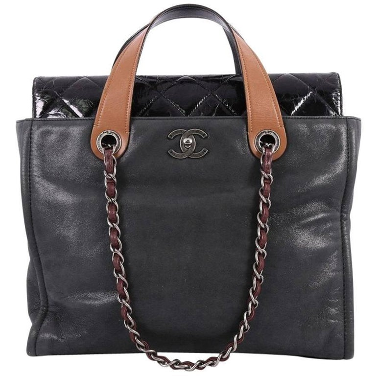 Chanel In the Mix Portobello Soft Tote Quilted Iridescent Calfskin