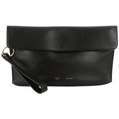 Celine Curved Evening Clutch Leather
