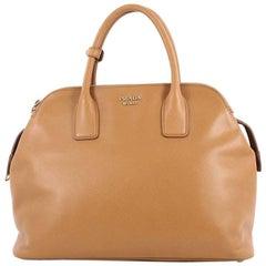 Prada Cuir Triple Zip Dome Tote Saffiano Leather