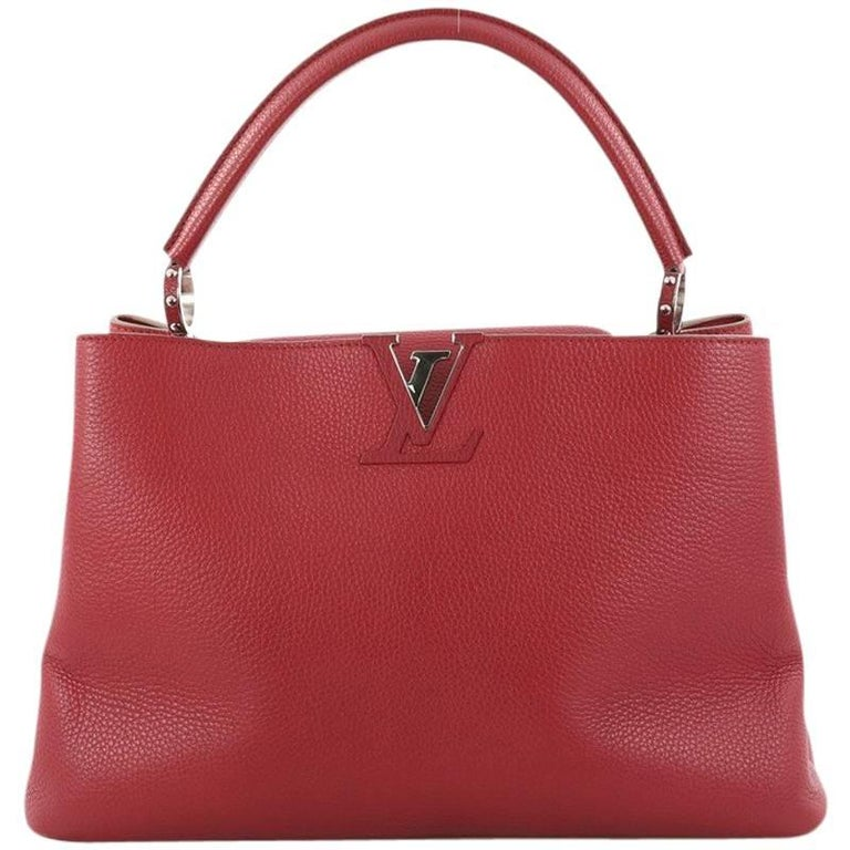 Louis Vuitton Capucines Handbag Leather GM