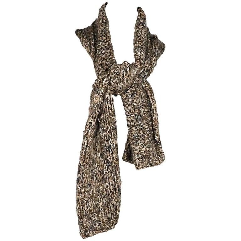 Chanel Metallic Knit Vest