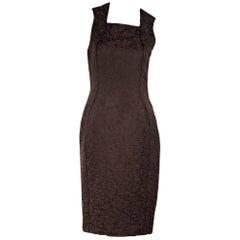 Bottega Veneta Brown Mohair-Blend Sheath Dress