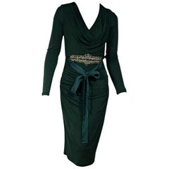 Badgley Mischka Emerald Green Embellished Dress