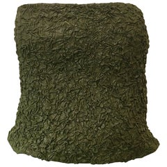 Kathryn Dianos Green Metallic Tube Top