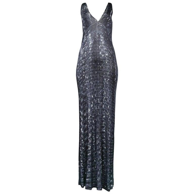 Maison Martin Margiela Iconic Sequin Print Dress 1996