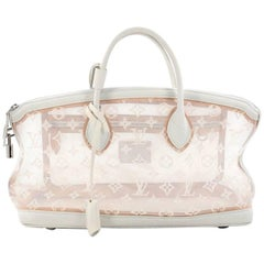 Louis Vuitton Transparence Lockit Handbag Mesh and Leather East West