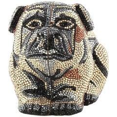 Judith Leiber Dog Minaudiere Crystal Small