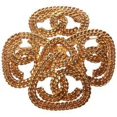 Chanel Gold Byzantine Plait Chain Brooch